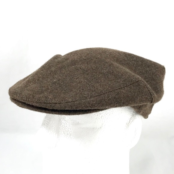 9c54aba66 Vintage Brown Wool Newsboy Cabbie Flat Cap Hat